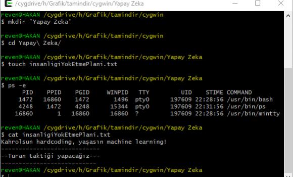 Cygwin Windows'ta Linux Emülatörü Kullanmak 3 - 3