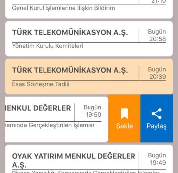 KAP Mobil Ekran Görüntüleri - 1