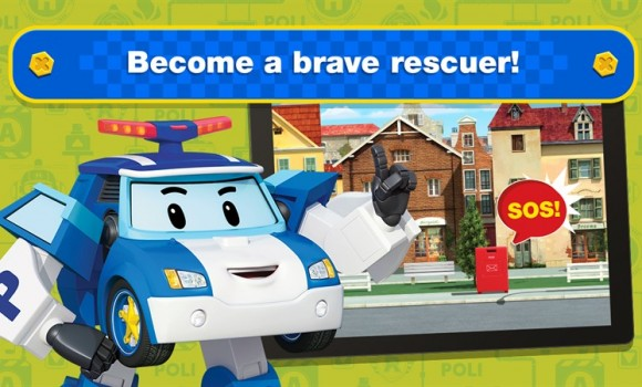 Robocar Poli: Rescue Town & City Games with Amber Ekran Görüntüleri - 1