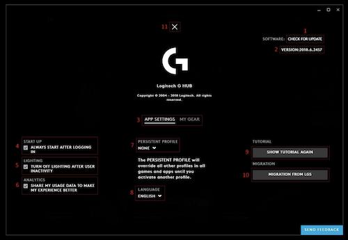 Logitech G HUB Ekran Görüntüleri - 1