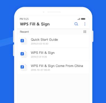 WPS Fill & Sign Ekran Görüntüleri - 1