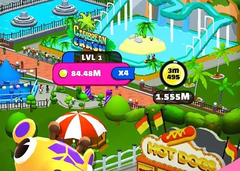 Click Park: Idle Building Roller Coaster Game Ekran Görüntüleri - 3