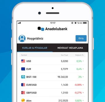 Anadolubank Mobil Ekran Görüntüleri - 1