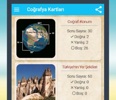 Coğrafya Kartları Ekran Görüntüleri - 1