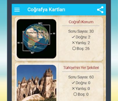 Coğrafya Kartları Ekran Görüntüleri - 7