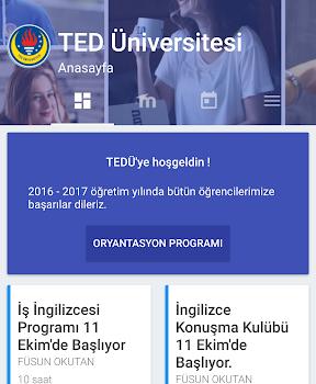 TED Üniversitesi Ekran Görüntüleri - 1