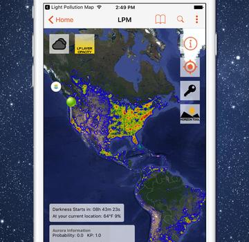 Light Pollution Map Ekran Görüntüleri - 1