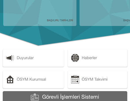 ÖSYM Görevli İşlemleri Sistemi Ekran Görüntüleri - 1