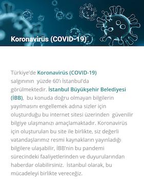 İBB Koronavirüs Ekran Görüntüleri - 1