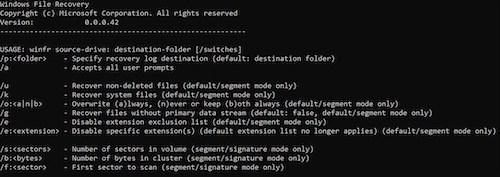 Windows File Recovery Ekran Görüntüleri - 2