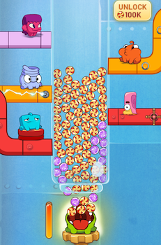 Om Nom Idle Candy Factory Ekran Görüntüleri - 3