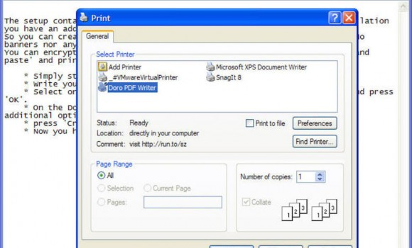 Doro PDF Writer Ekran Görüntüleri - 1