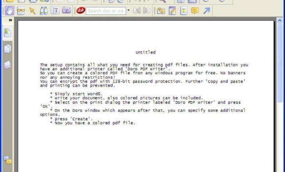 Doro PDF Writer Ekran Görüntüleri - 3