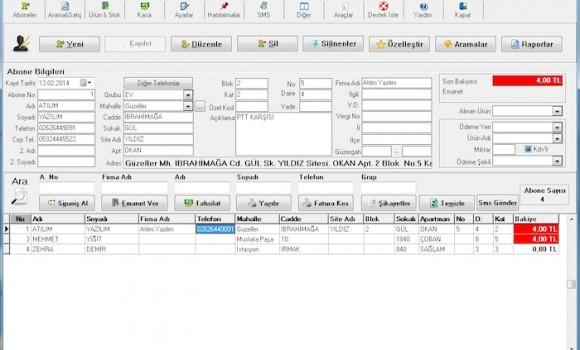 A-Tüp & Su Abone Takip Programı Ekran Görüntüleri - 6