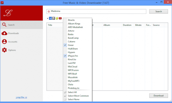 Free Music Downloader Ekran Görüntüleri - 1