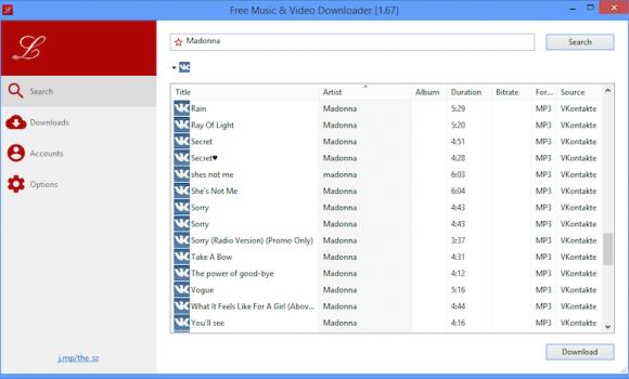 Free Music Downloader Ekran Görüntüleri - 2