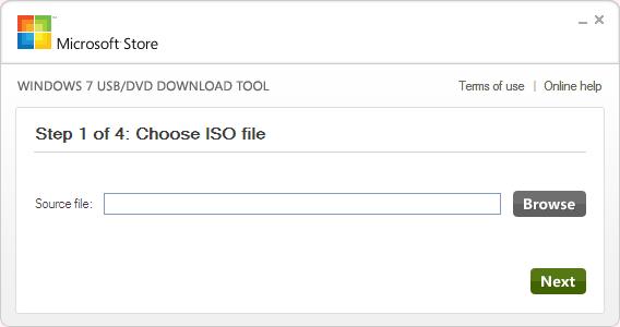Windows 7 USB/DVD Download Tool Ekran Görüntüleri - 1