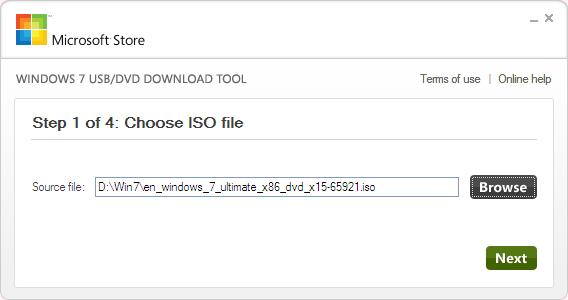 Windows 7 USB/DVD Download Tool Ekran Görüntüleri - 2