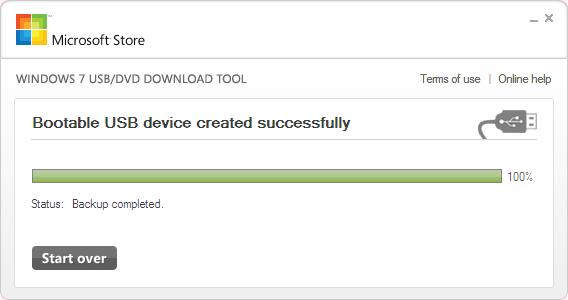 Windows 7 USB/DVD Download Tool Ekran Görüntüleri - 7