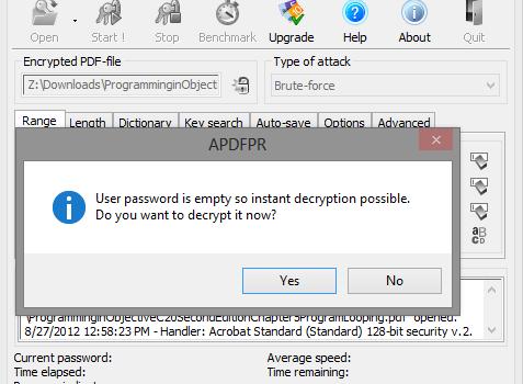 Advanced PDF Password Recovery Ekran Görüntüleri - 2