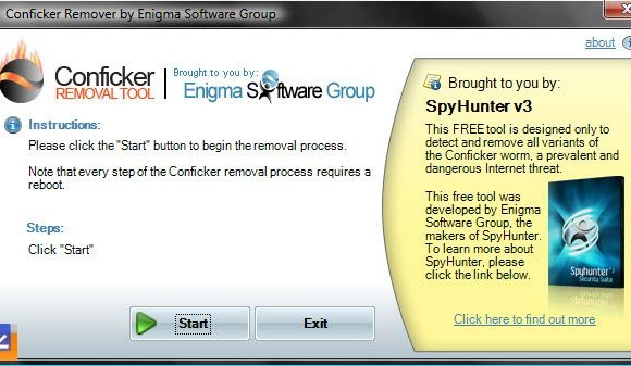 Conficker Removal Tool Ekran Görüntüleri - 1