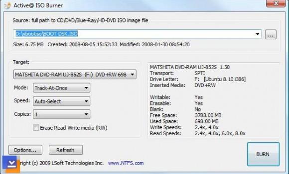 Active ISO Burner Ekran Görüntüleri - 1