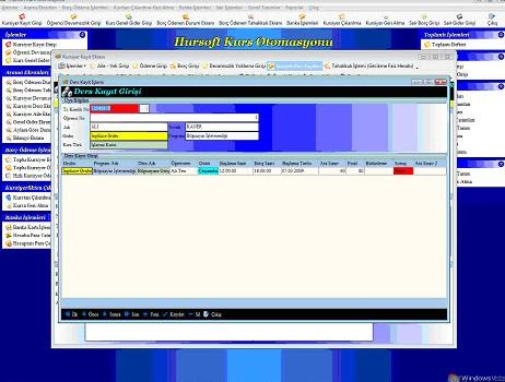 Hursoft Kurs Otomasyonu Ekran Görüntüleri - 2