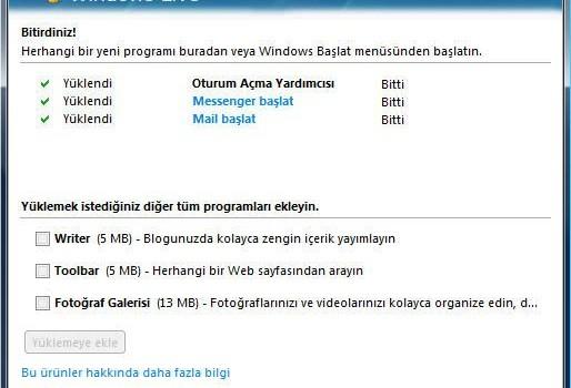Windows Live Ekran Görüntüleri - 1