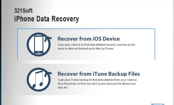 321Soft iPhone Data Recovery for Mac Ekran Görüntüleri - 1