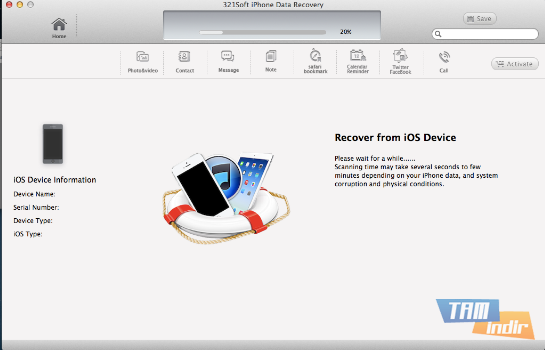 321Soft iPhone Data Recovery for Mac Ekran Görüntüleri - 4