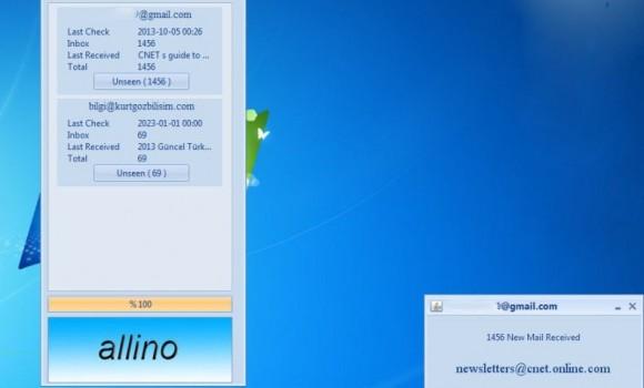 Allino Mail Notification Ekran Görüntüleri - 1