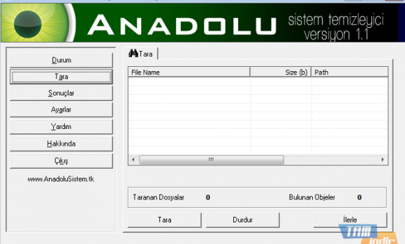 Anadolu Sistem Tarayıcı ve Temizleyici Ekran Görüntüleri - 1