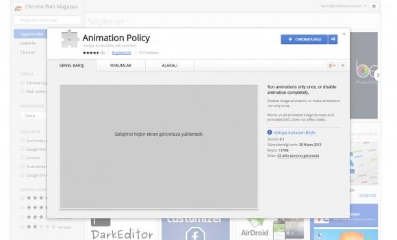 Animation Policy Ekran Görüntüleri - 1