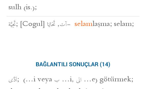 Arapça-Türkçe Sözlük Ekran Görüntüleri - 2