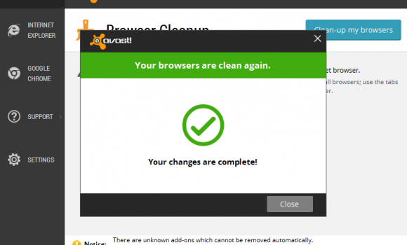 Avast! Browser Cleanup Ekran Görüntüleri - 1