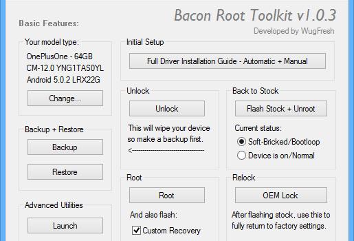 Bacon Root Toolkit Ekran Görüntüleri - 1