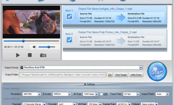 BlackBerry Video Converter Factory Pro Ekran Görüntüleri - 1