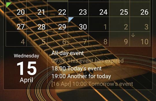 Calendar Widget Ekran Görüntüleri - 5