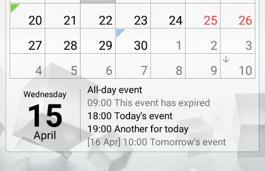 Calendar Widget Ekran Görüntüleri - 4