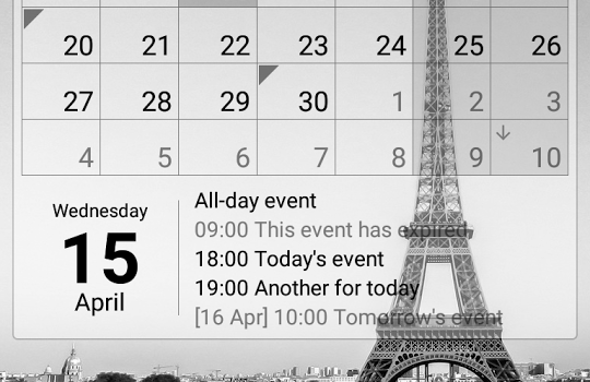 Calendar Widget Ekran Görüntüleri - 2