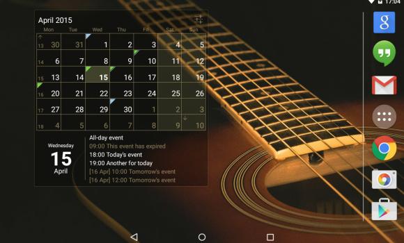 Calendar Widget Ekran Görüntüleri - 1