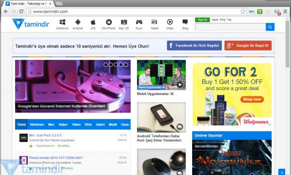 Comodo Dragon Internet Browser Ekran Görüntüleri - 1