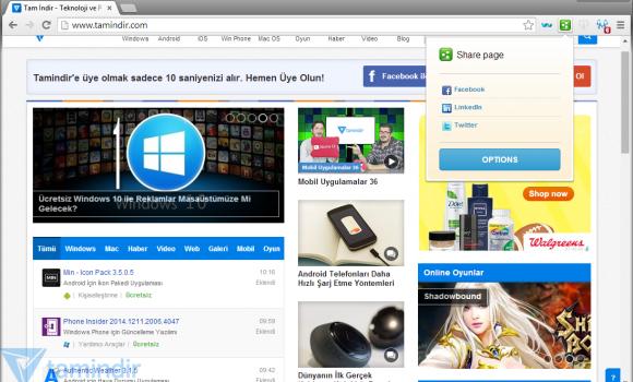 Comodo Dragon Internet Browser Ekran Görüntüleri - 3