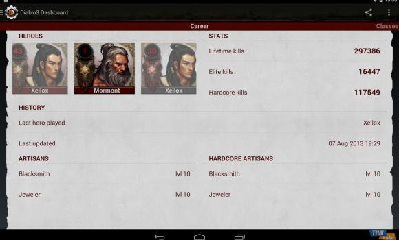 Diablo3 - Mobile Dashboard Ekran Görüntüleri - 3