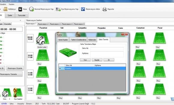 Diclesoft Halı Saha 2014 Ekran Görüntüleri - 3
