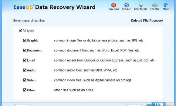 EaseUS Data Recovery Wizard Professional Ekran Görüntüleri - 1