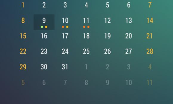 Event Flow Calendar Widget Ekran Görüntüleri - 1