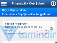 Finansbank Cep Şubesi Ekran Görüntüleri - 2