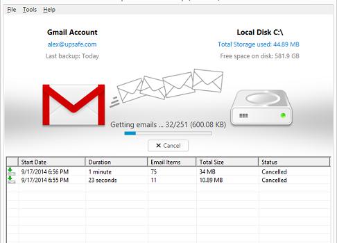 Free Gmail Backup Ekran Görüntüleri - 4