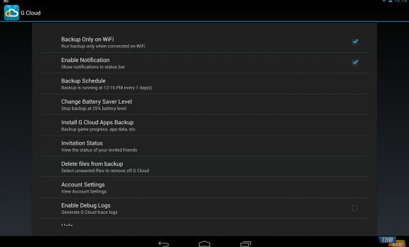 G Cloud Backup Ekran Görüntüleri - 1
